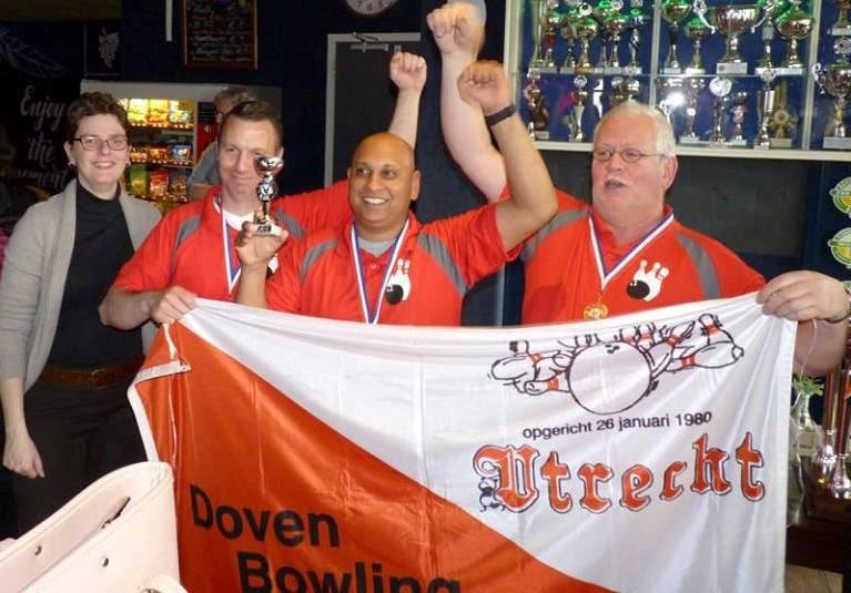 3e plaats DBC Utrecht 2, Michel Madderom, Radsj Gajadhar en Bertus Steenmeijer. Chris Besseling hoort er ook bij, maar was die dag ziek