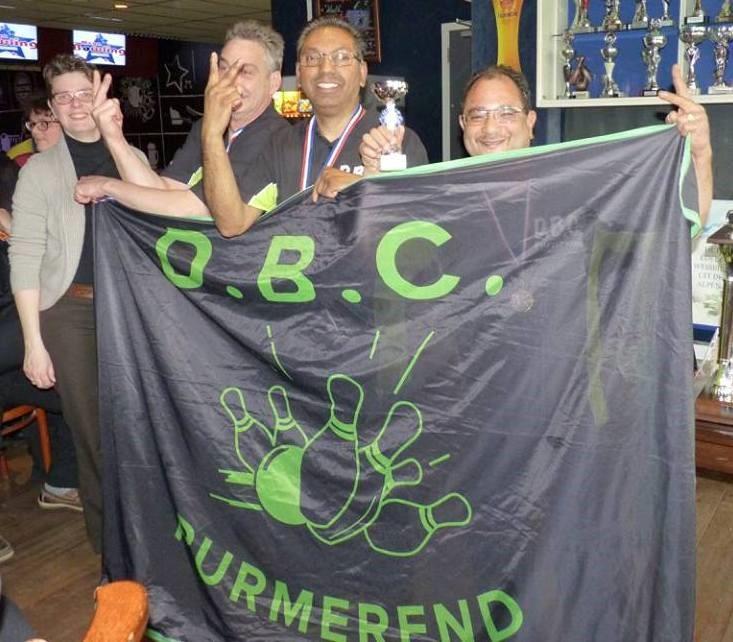 2e plaats DBC Purmerend 1, Nando Petersen, Shahit Chahat, Hubert Illario. (Martin Visser hoort er ook bij, maar moest weg)